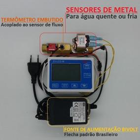 Dosador Água Panificadora Quente E Fria Termômetro Metal 1/2