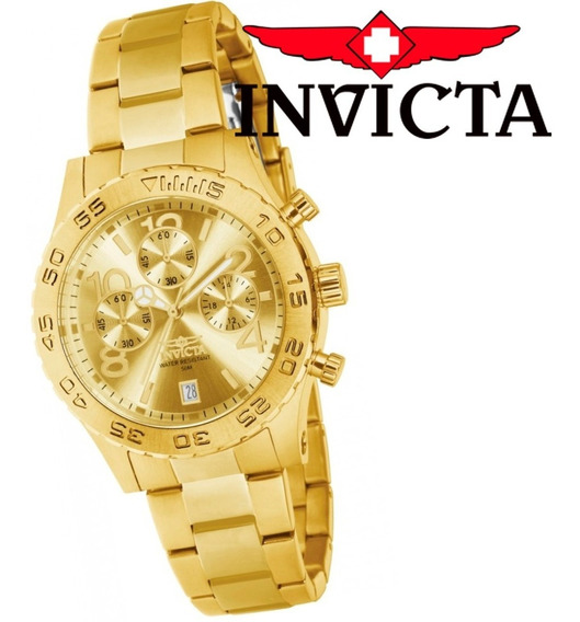 Relógio Feminino Invicta Ouro 18k 1279 Original Dourado + Nf