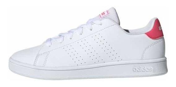 Tenis adidas Advantage Blanco/rosa Ef0211