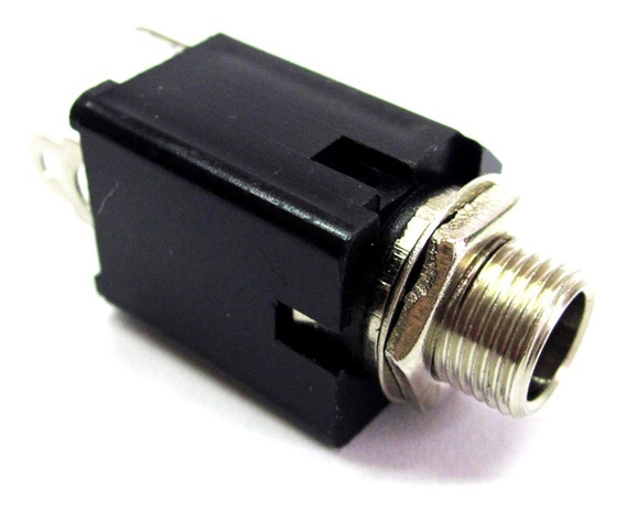 Kit 10 Conector Jack P10 Stereo Fêmea De Painel