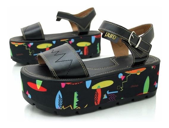 Sandalias Puro New Wave Black Reforzadas Diseño