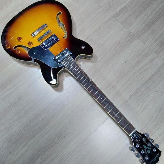 Guitarra Semi Acústica Washburn Hb-30 Sunburst Original