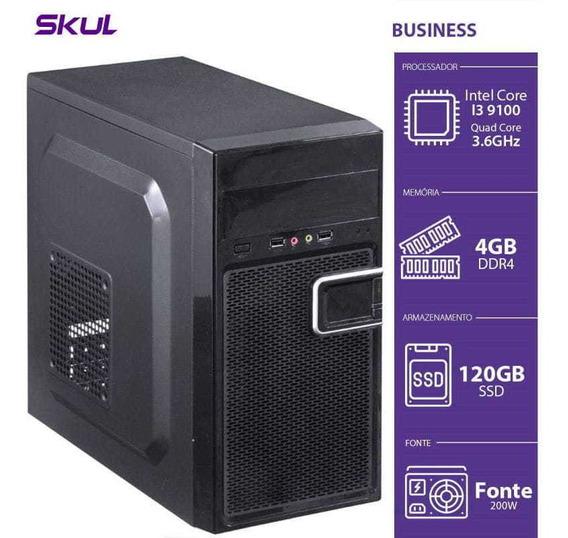 Computador Business B300 - I3-9100 3.6ghz 4gb Ssd 120g