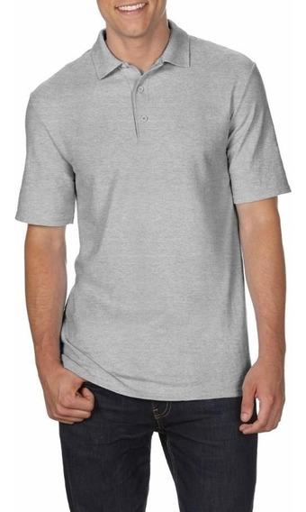 Camiseta Polo Tallas Extra Gris 2xl 3xl 4xl 5xl Original