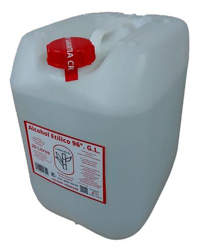 Imagen 1 de 5 de Bidon 20 Litros Alcohol Etílico Grado 96° Puro De Caña