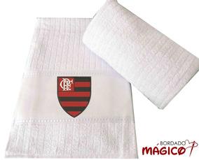 Kit 3 Toalhas Bordadas Time Flamengo