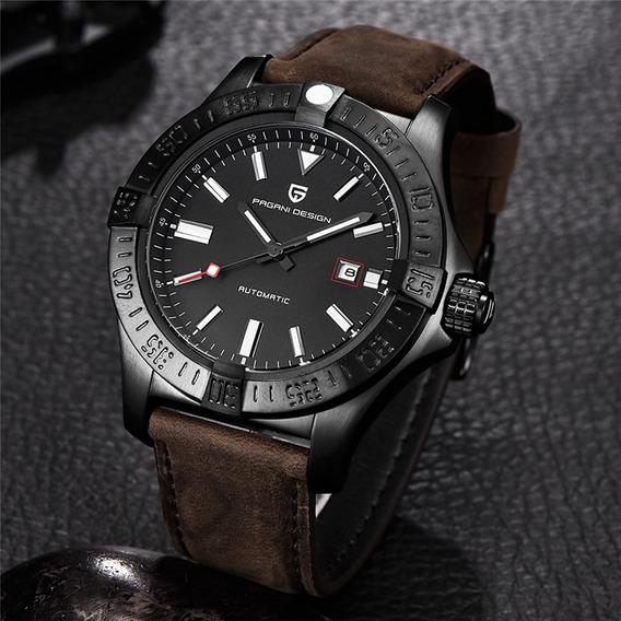 Relógio Pulseira De Couro Automático Pagani Design 1267