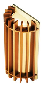 Arandela De Madeira Rústica Parede Interna 9x16cm Soq: G9