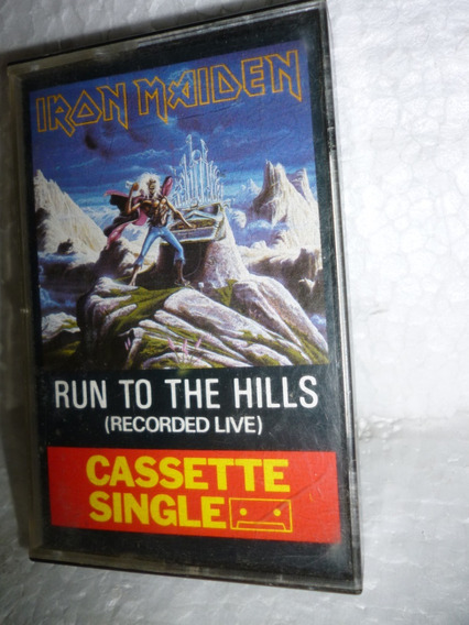 Fita K7 Single Iron Maiden Run To The Hills 1987 England