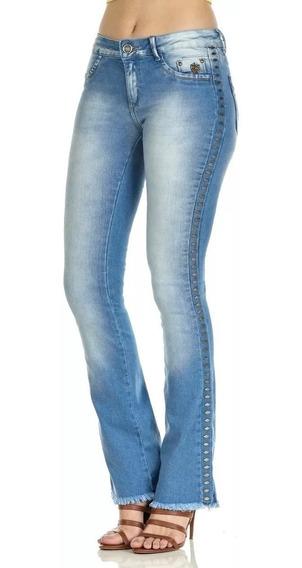 Calça Jeans Feminina Empório Boot Cut Cos Medio Ep6062