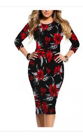 Vestido Midi Moda Evangélica Lisos Estampados 105 Cm De Comp