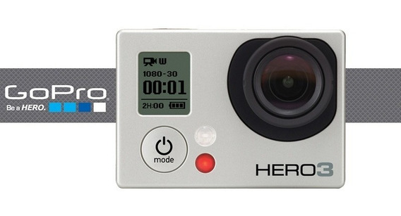 Gopro Hero 3 + De 35 Acessórios E Bateria E Tela Lcd