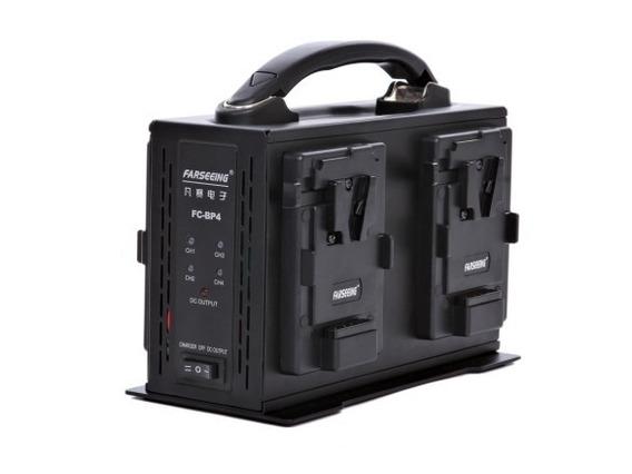 Carregador Baterias V-mount De 4 Canais + Fonte Alimentação!