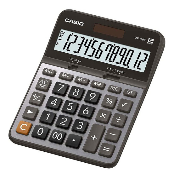 Calculadora Mesa Casio Dx - 120b 12 Dígitos Prata