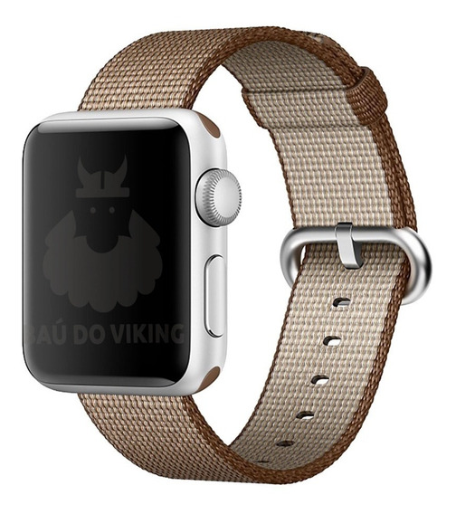 Pulseira Nylon P/ Apple Watch 38mm 42mm 40mm 44mm + Brinde