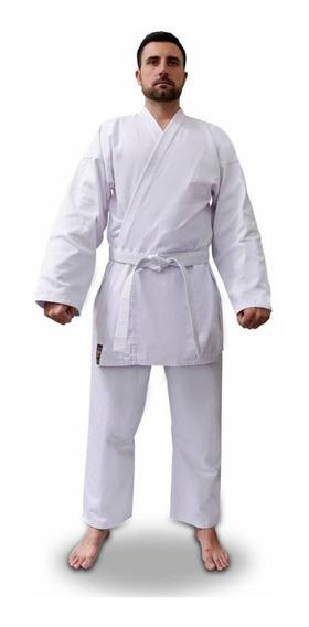 Kimono Karate Start Brim Adulto Shiroi + Faixa Branca