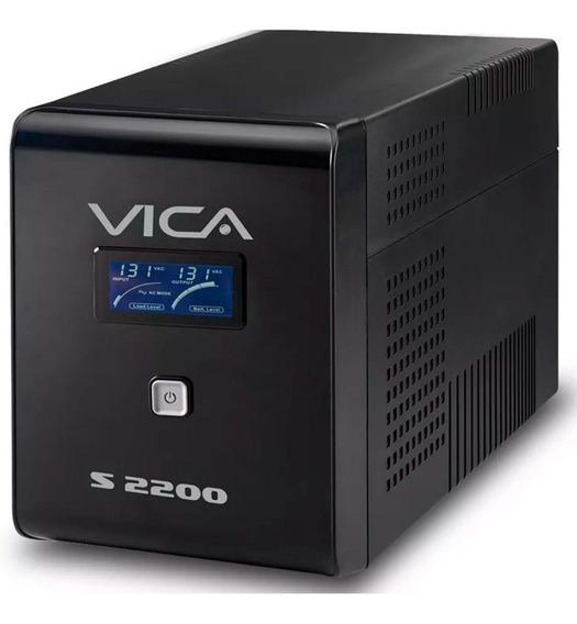 No Break Vica S2200 2200va 1200w 8 Cont 95 Min Tv Gamer Pc