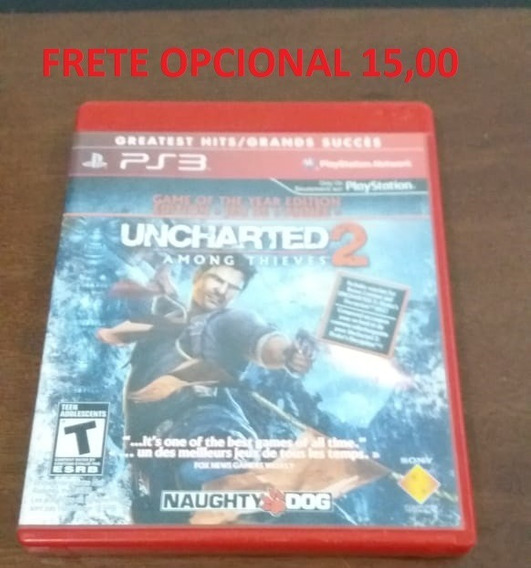 Uncharted 2 Among Thieves - Mídia Física Original Ps3