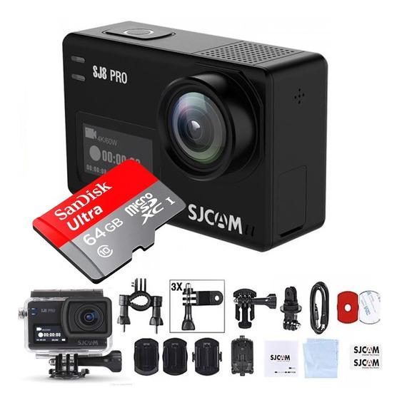 Câmera Sjcam Sj8 Pro Original 4k 60fps + Brinde Mic Sd 64gb
