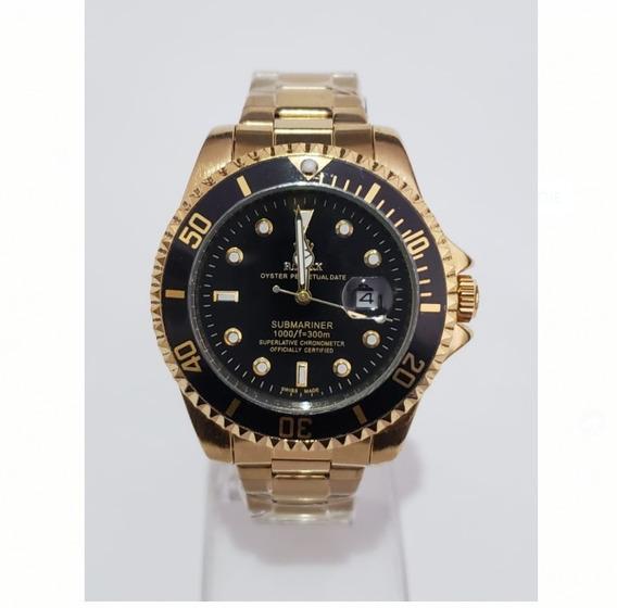 Relógio Masculino Golden Black