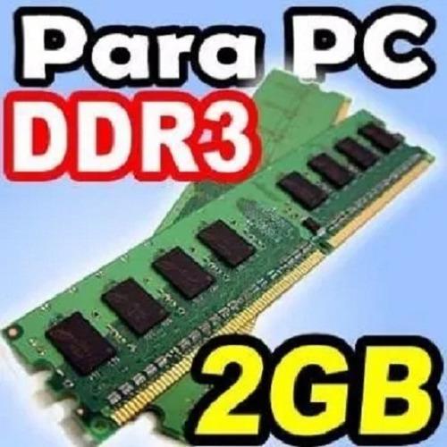 Lote De Dos Memorias Ram De 2gb Ddr3 1600 4gb En Total