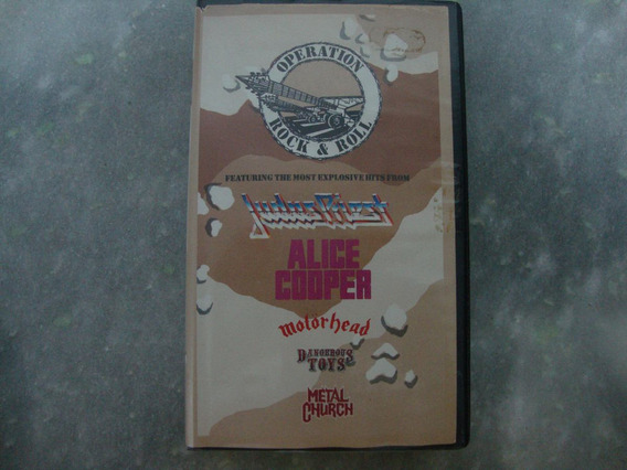 Operation Rock &roll Judas Priest Alice Cooper Motorhead Vhs