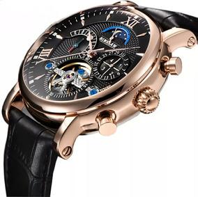 Relógio Masculino Mecânico Automático Turbilhão Binssaw