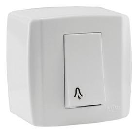 Pulsador De Campainha Box Branco 6a Ilumi