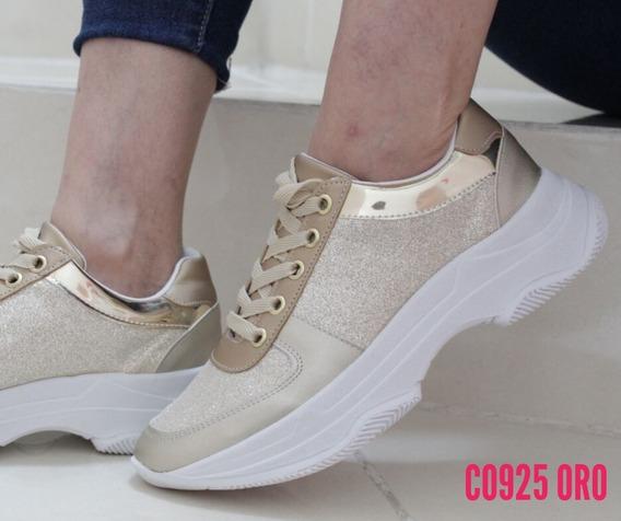 Tenis Mujer Moda Sneakers Plataforma Dama