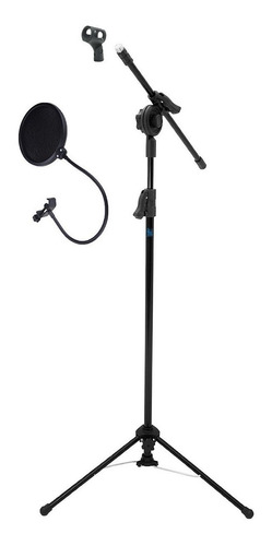 Pedestal P/ Microfone Reforçado Pe2 C/ Cachimbo E Popfilter