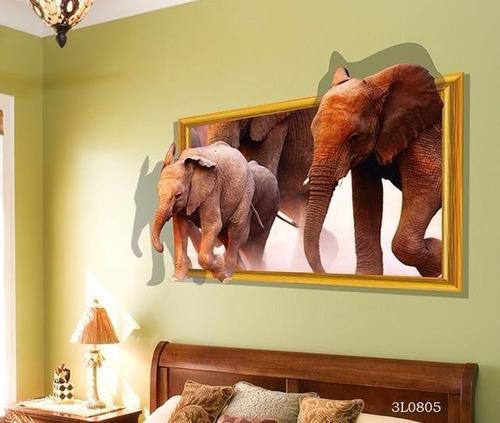 Vinilos Decorativos Adhesivos, Elefantes Y Tiburon
