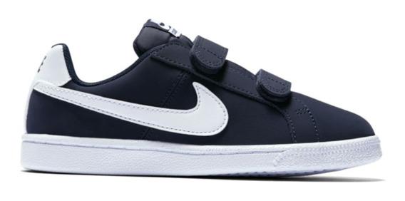 Tenis Infantil Nike Court Royale (psv) - Marinho/branco