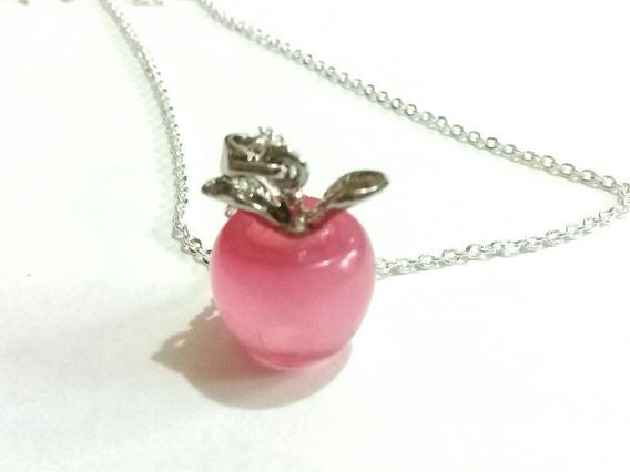 Collar Manzana Opalo Blanca Nieves Pink Snow White