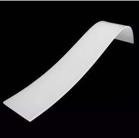 50 Uni Expositor Branco De Acrílico Tobogan Pulseira