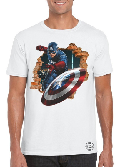 Playera Bien Elegante Avengers Capitán América 2 Para Adulto