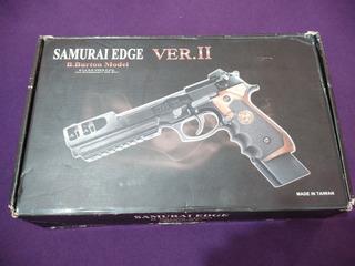 Pistola We M92 Bio Hazard Samurai Barry Burton V2 Full Auto