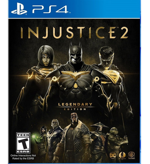 Injustice 2 Legendary Edition Ps4 Mídia Física