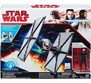 Star Wars Tie Fighter + Pilot Force Link Prim Orden Hasbro
