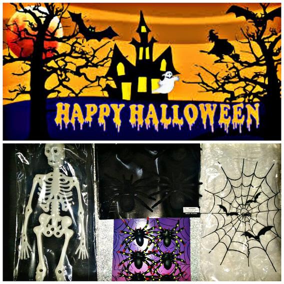 Combo De Halloween Para Decorar Cotillón Halowen Terror