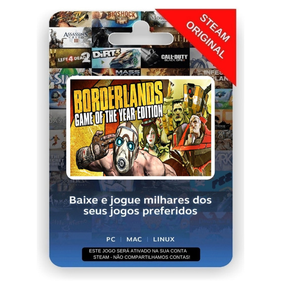 Borderlands 1 Game Of The Year Edition Steam Key Original