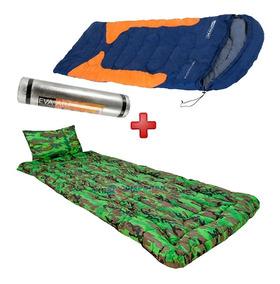 Kit Camping Saco De Dormir + Colchonete + Isolante Térmico