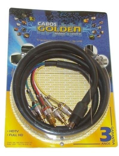 Cabo Componente Profissional Net Digital - 3 Metros - Golden