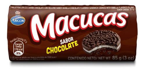 Galletitas Macucas Sabor Chocolate X 85 Gr