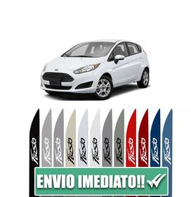 Friso Lateral Para Ford New Fiesta Azul Noronha