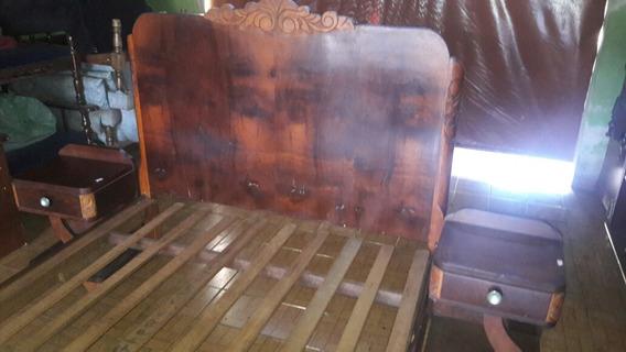 Usado Cama+criado Mudo Antiga Madeiras