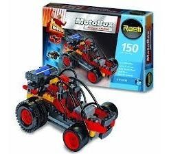 Rasti Motobox Arenero Con Motor Ladrillos Bloques 150 Piezas