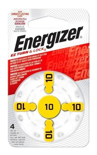 Imagen 1 de 2 de 24 Pilas Audifonos N10 Audiologia Energizer Az10 Caja 24u