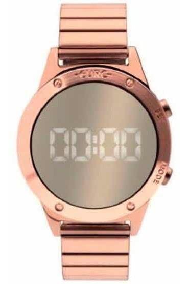 Relógio Feminino Euro Fashion Espelhado Led Rosé Eujhs31bac