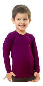 Camisa Infantil Térmicas Proteção Uv Solar 50+ Elite