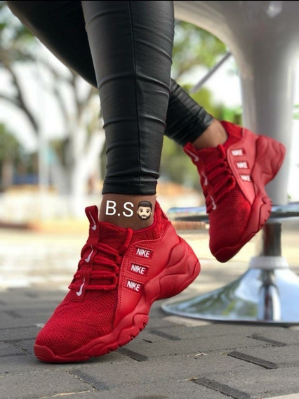 zapatillas mujer rojo nike
